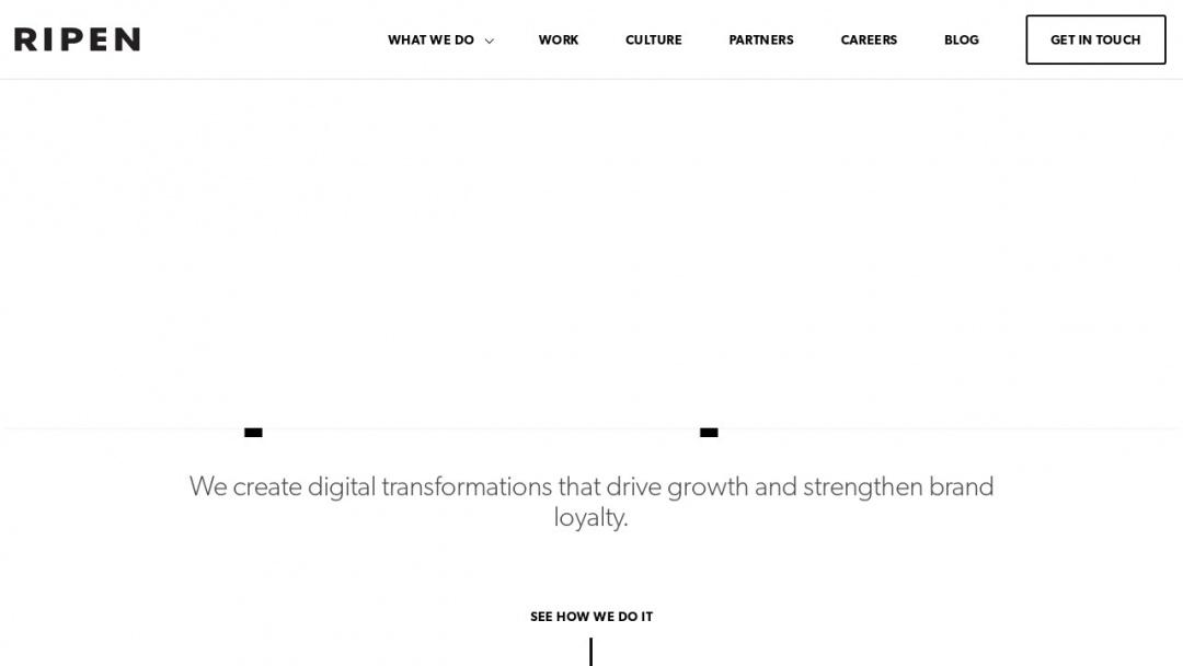 Screenshot of Ripen eCommerce's Website