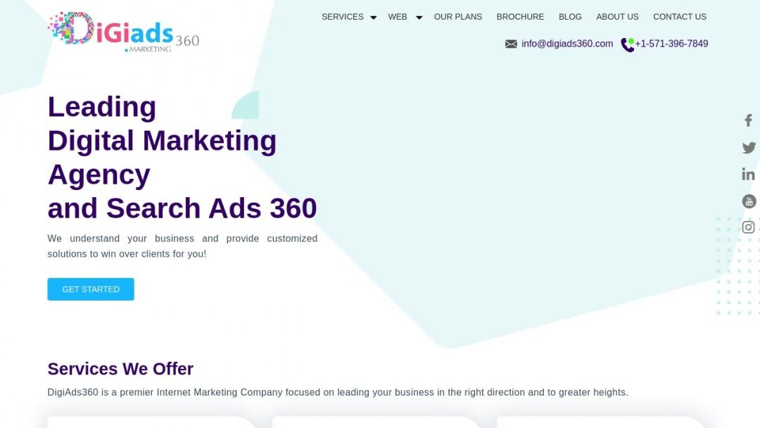 Screenshot of Search Ads 360's Website