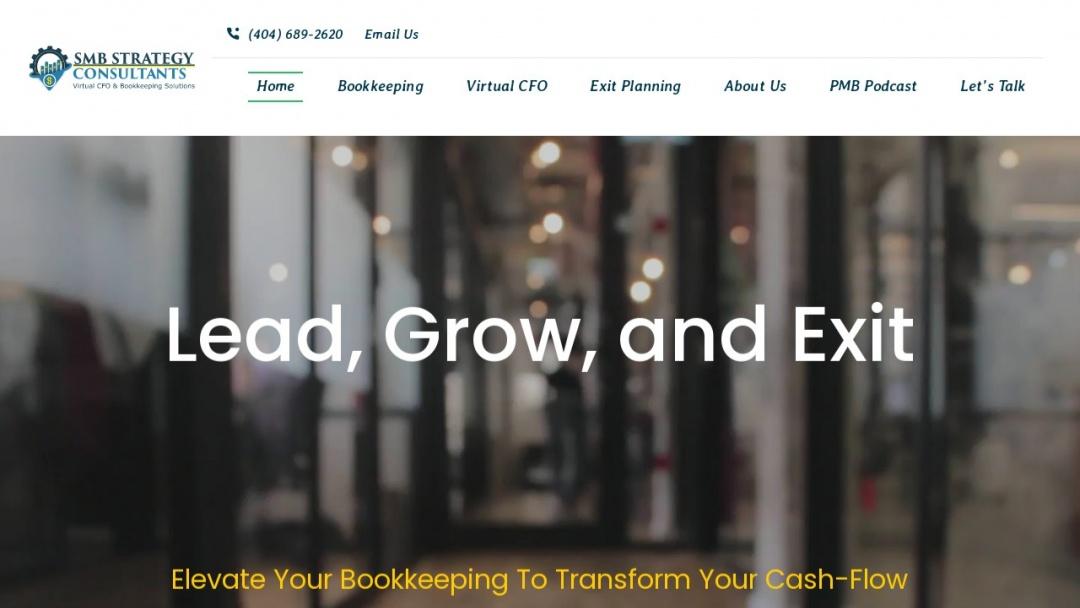Screenshot of SMB Strategy's Website