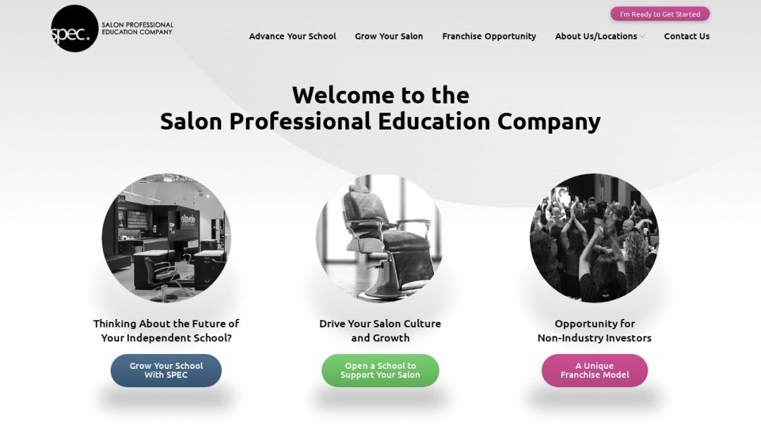 Screenshot of SPEC Franchise's Website