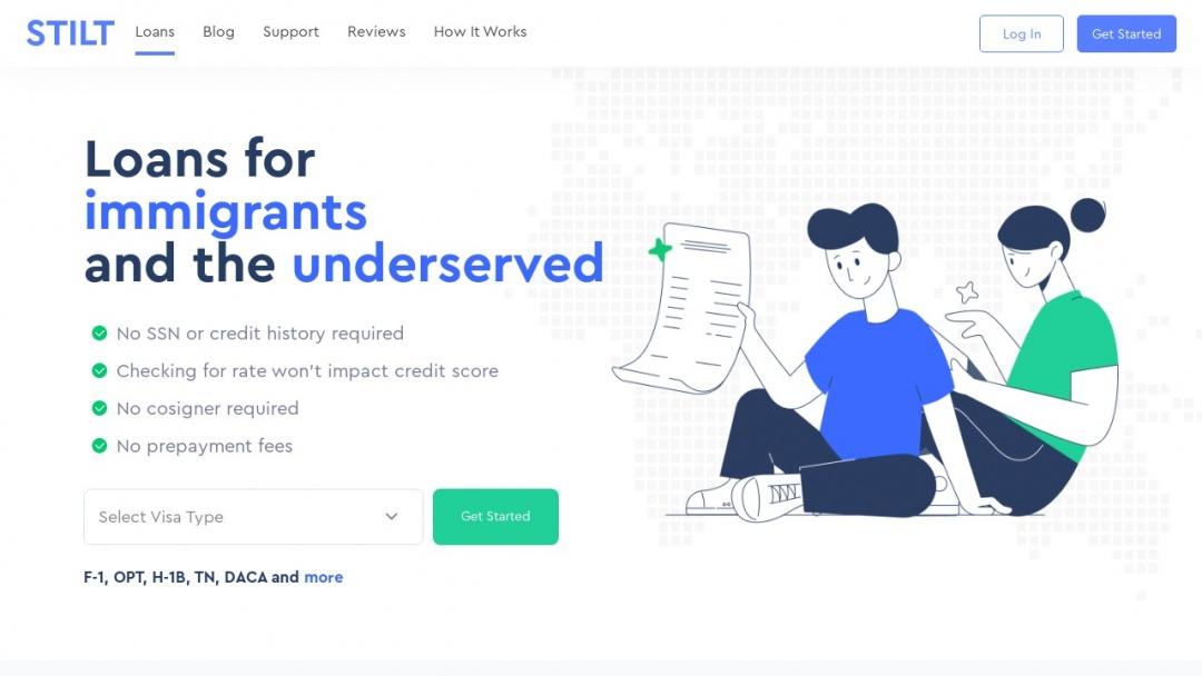 Screenshot of Stilt's Website
