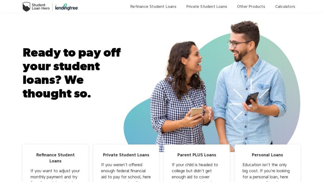Screenshot of Student Loan Hero's Website