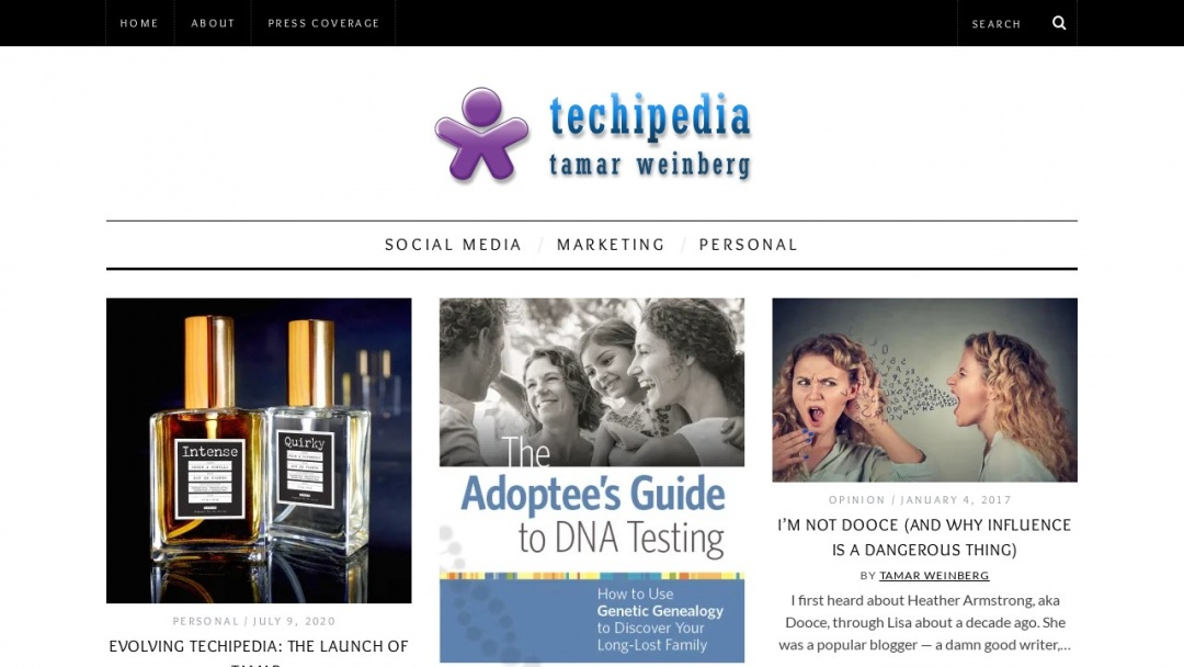 Screenshot of Techipedia's Website