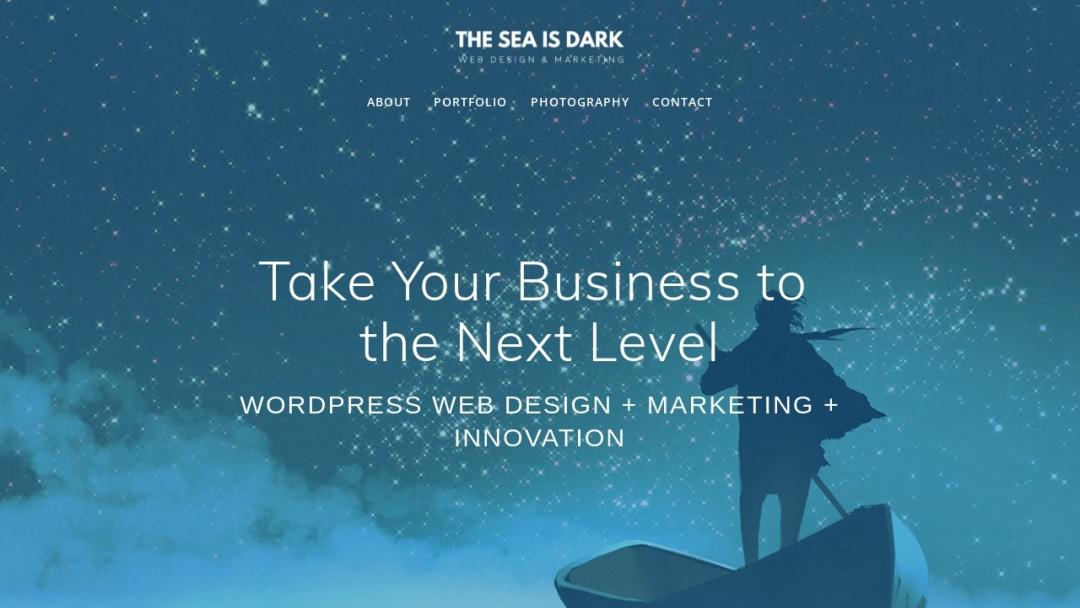 Screenshot of Theseaisdark's Website