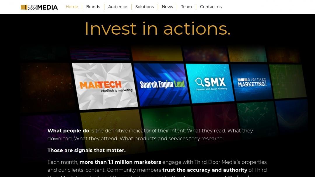 Screenshot of Third Door Media's Website