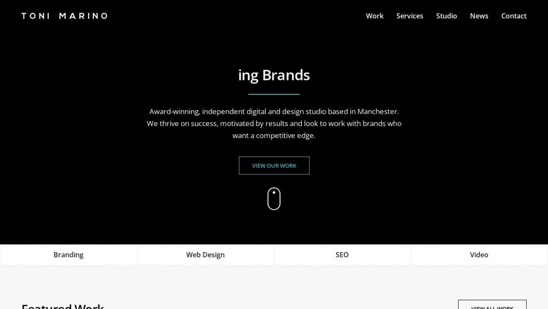 Screenshot of Toni Marino's Website