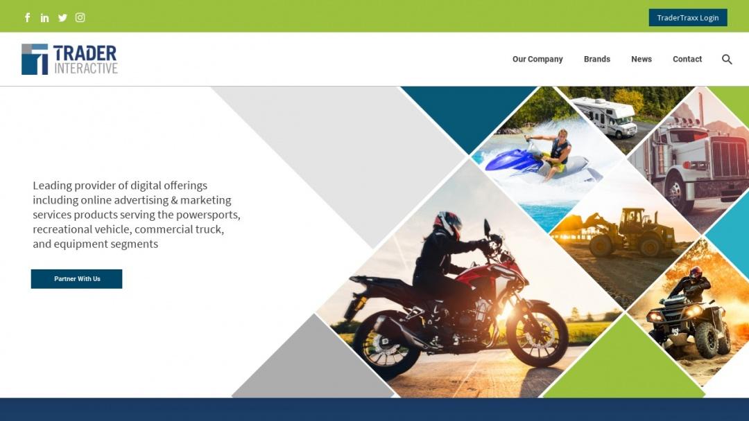 Screenshot of Trader Interactive's Website