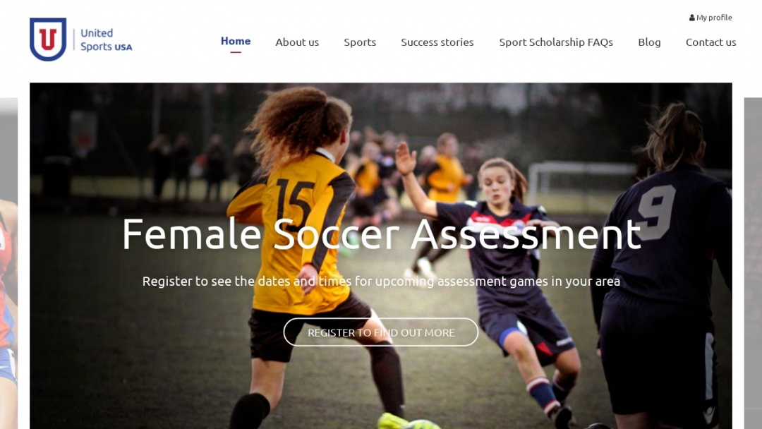 Screenshot of United Sports USA's Website