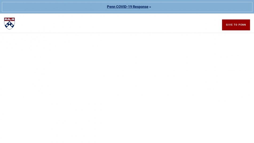 Screenshot of University of Pennsylvania's Website