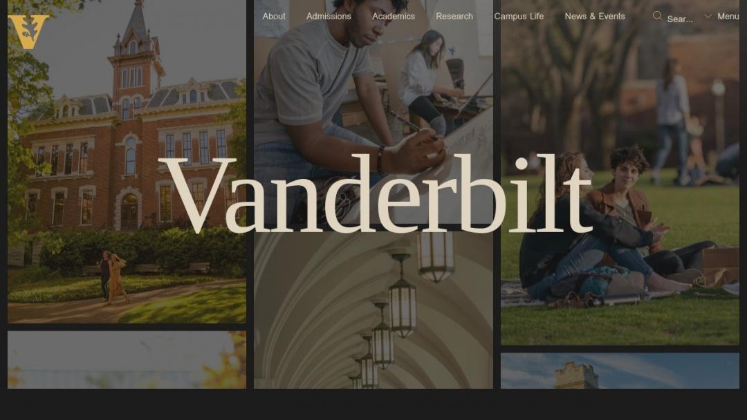 Screenshot of Vanderbilt University's Website
