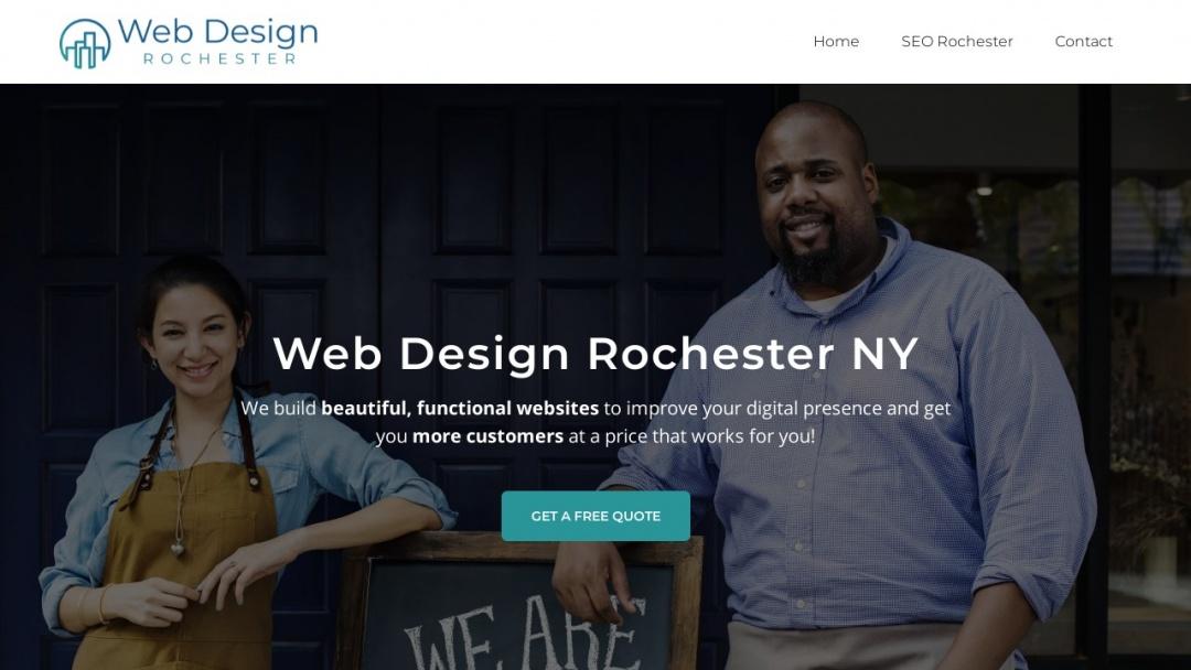 Screenshot of Web Design Rochester's Website