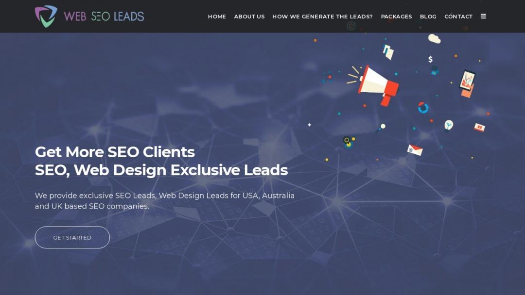 Screenshot of Web Seo Leads's Website