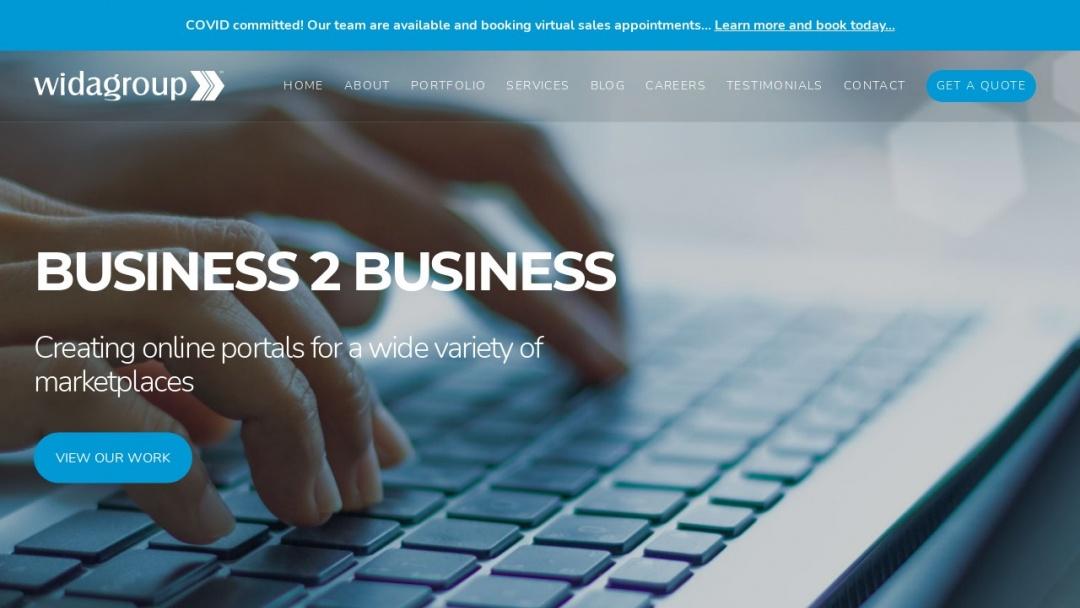 Screenshot of Wida Group's Website