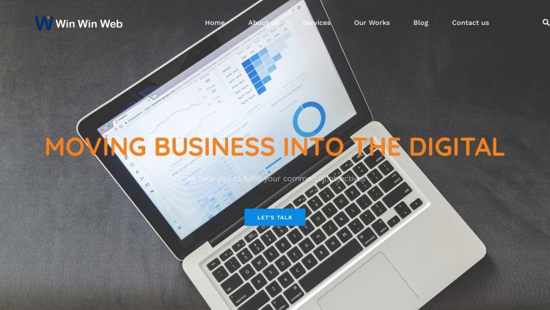 Screenshot of Win Win Web's Website
