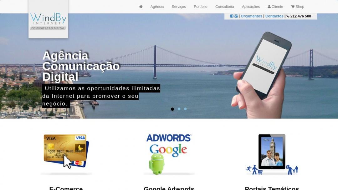 Screenshot of WindBy Internet's Website