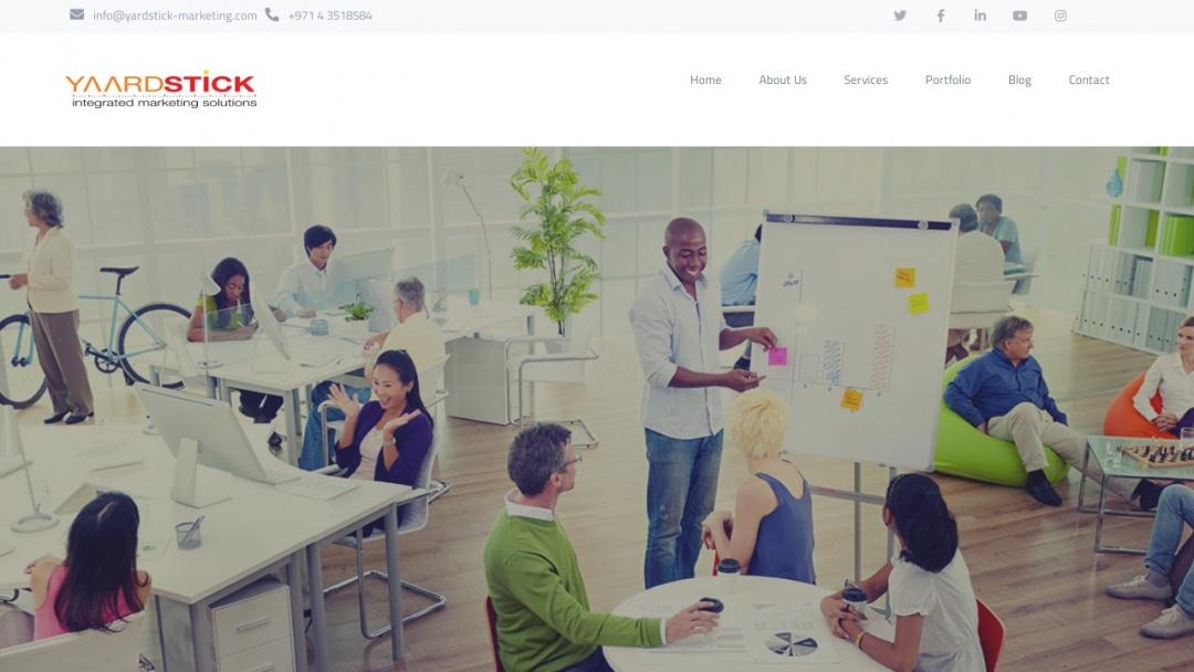 Screenshot of Yardstick's Website
