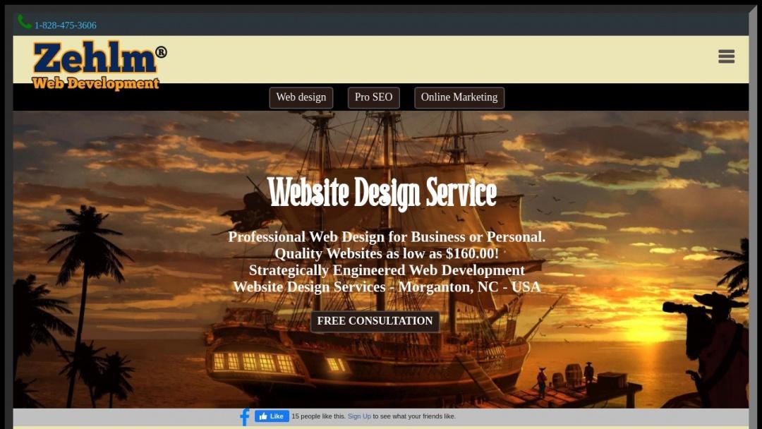 Screenshot of zehlm.com's Website