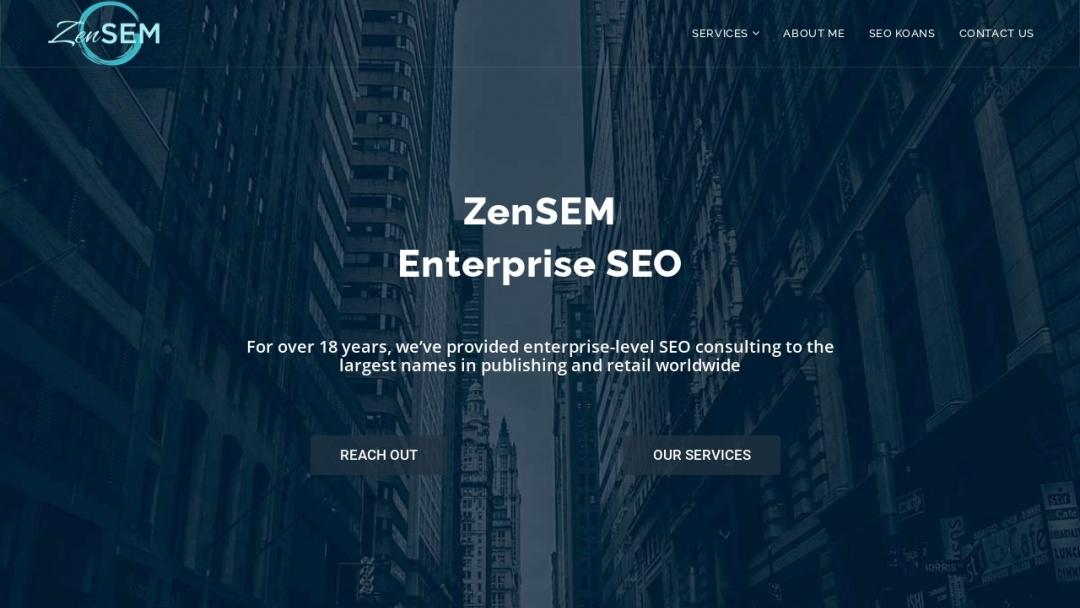 Screenshot of ZenSEM's Website